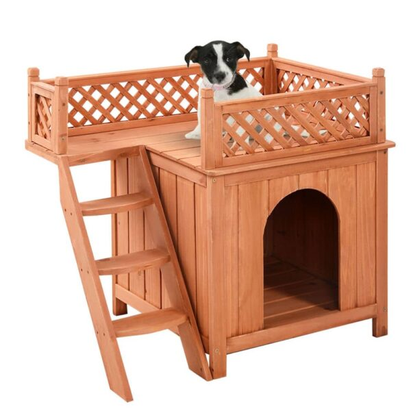 מלונה לכלב מעץ 11